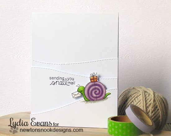 Snail Mail card by Lydia Evans | In Slow Motion Stamp set by Newton's Nook Designs