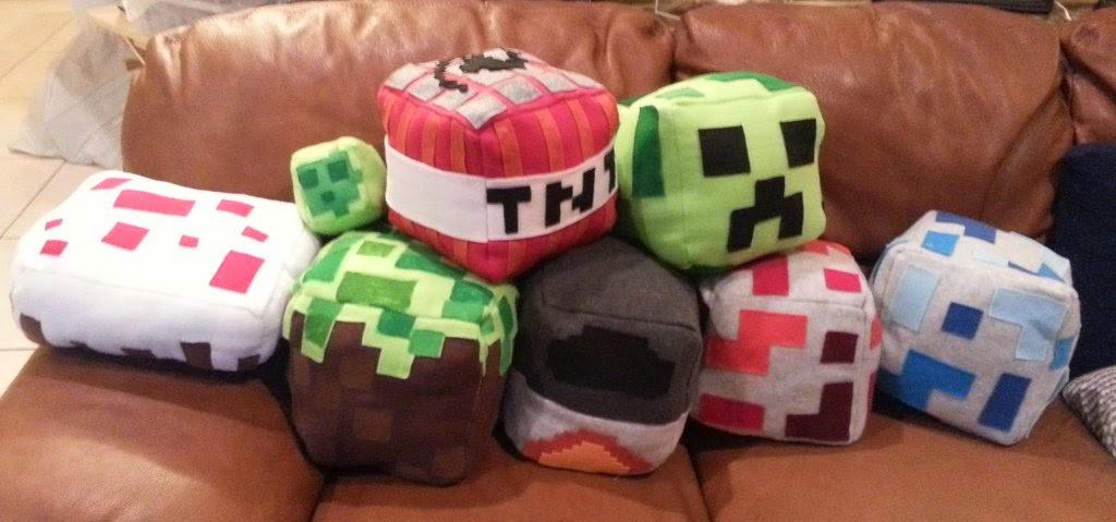 colección de cojines cubo minecraft