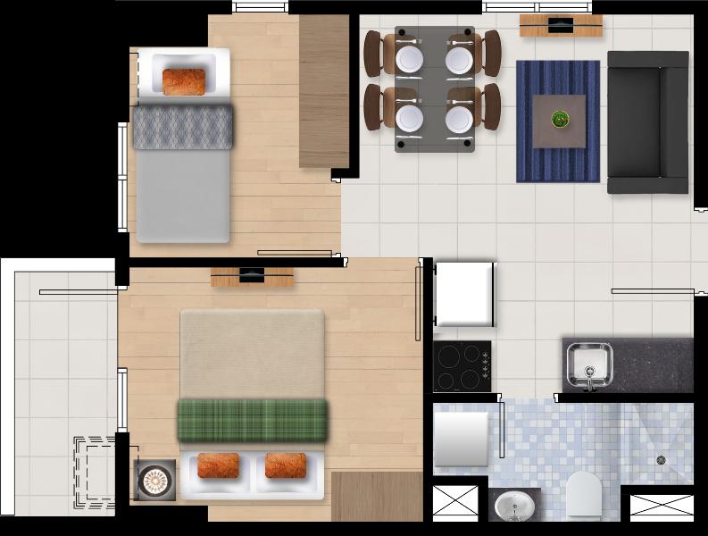 Ascentia Condominium 2 Bedroom Unit