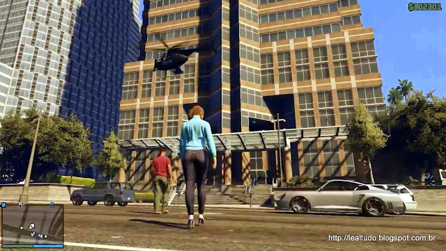 Grand Theft Auto Online Hot Woman Building fast cars Chopper - Mulher Gostosa Predio Carros