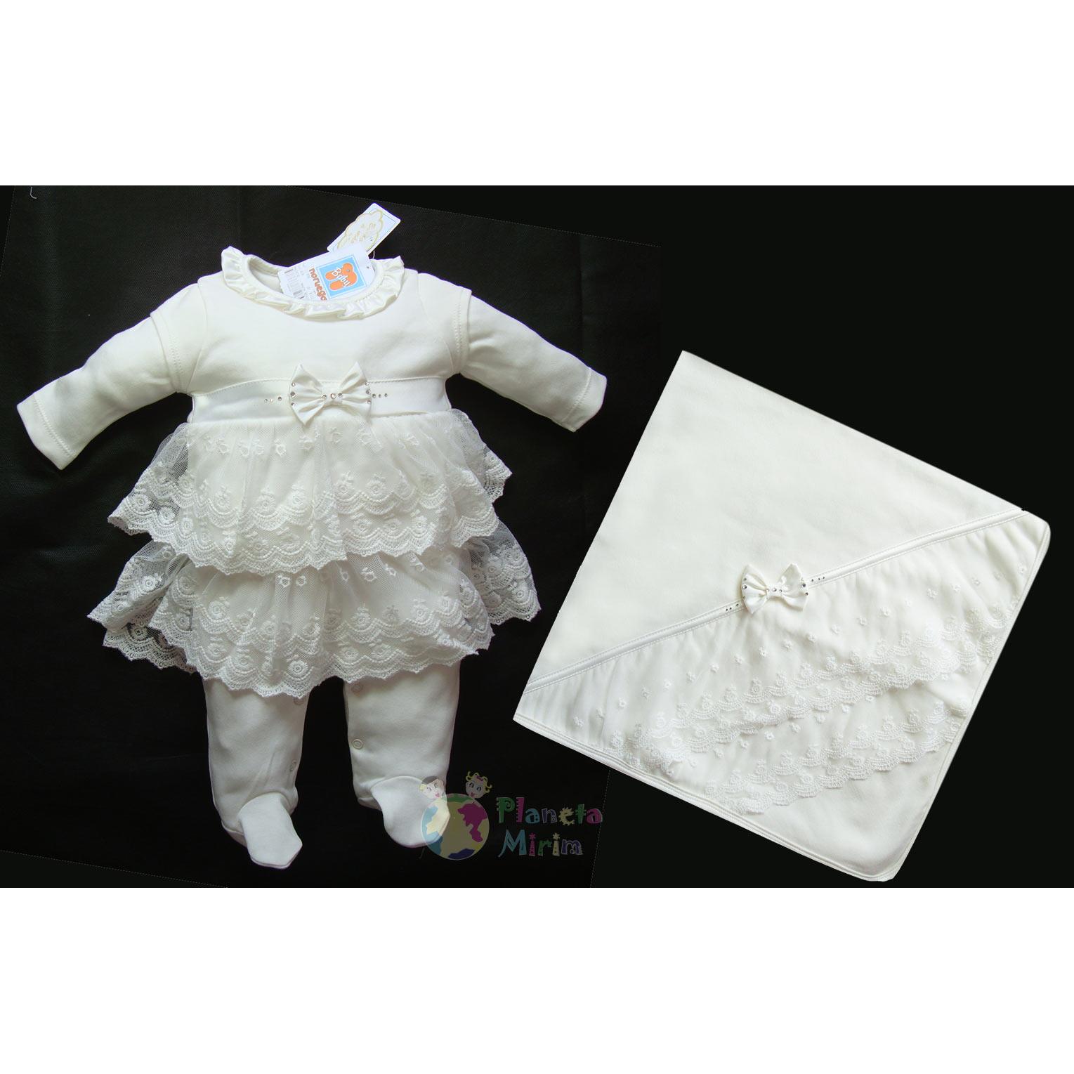 Saída de Maternidade para bebês meninas na loja virtual de roupas para bebê Planeta Mirim