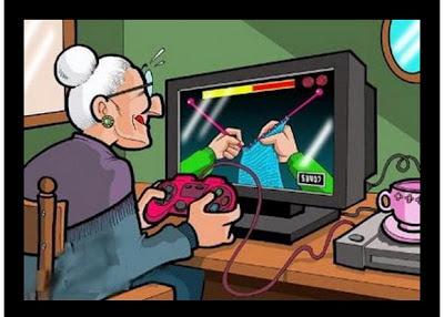 abuela gamer geek humor