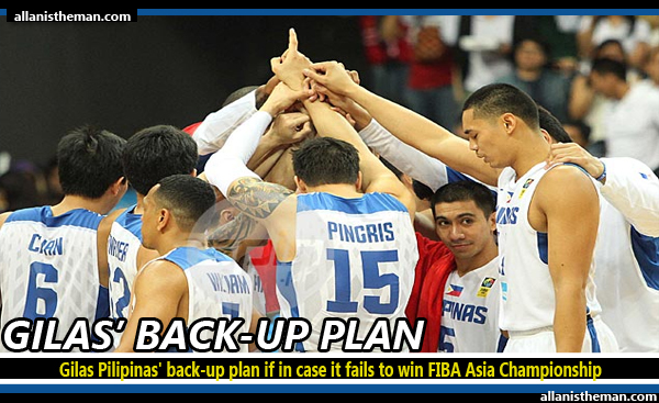 Gilas Pilipinas' back-up plan if in case it fails to win FIBA Asia Championship