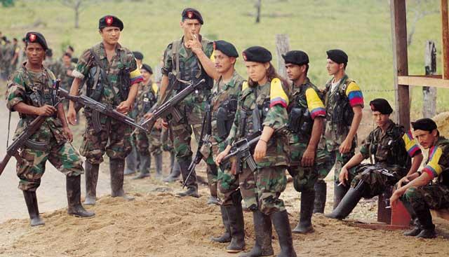 Integrantes de la organización narcoterrorista FARC.