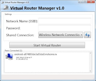 Virtual Router Manager – Sharing Koneksi Internet Dari Laptop/Pc