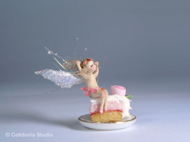 micro fairy in polymer clay