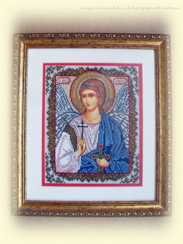 икона ангел-хранитель вышивка бисером