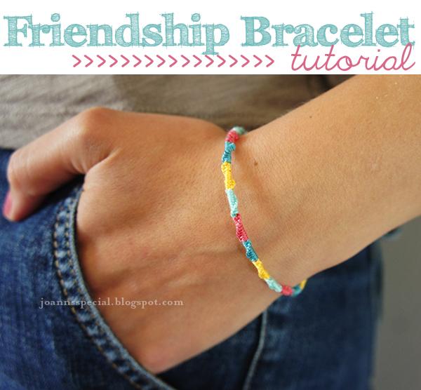 JoAnn's Special: Round Friendship Bracelet Tutorial