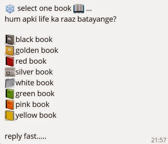 Select one Book .. hum apki life ka raaz batayange