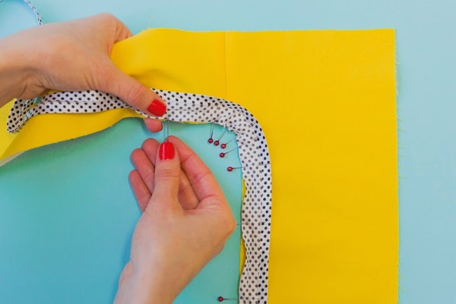 How to Finish a Facing with Bias Binding