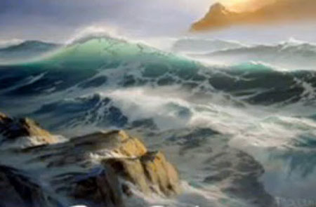 ... - Wave Foam in Seascapes - Video Lessons of Drawing & Painting