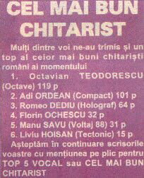 1996_Revista Salut_Cel mai bun chitarist