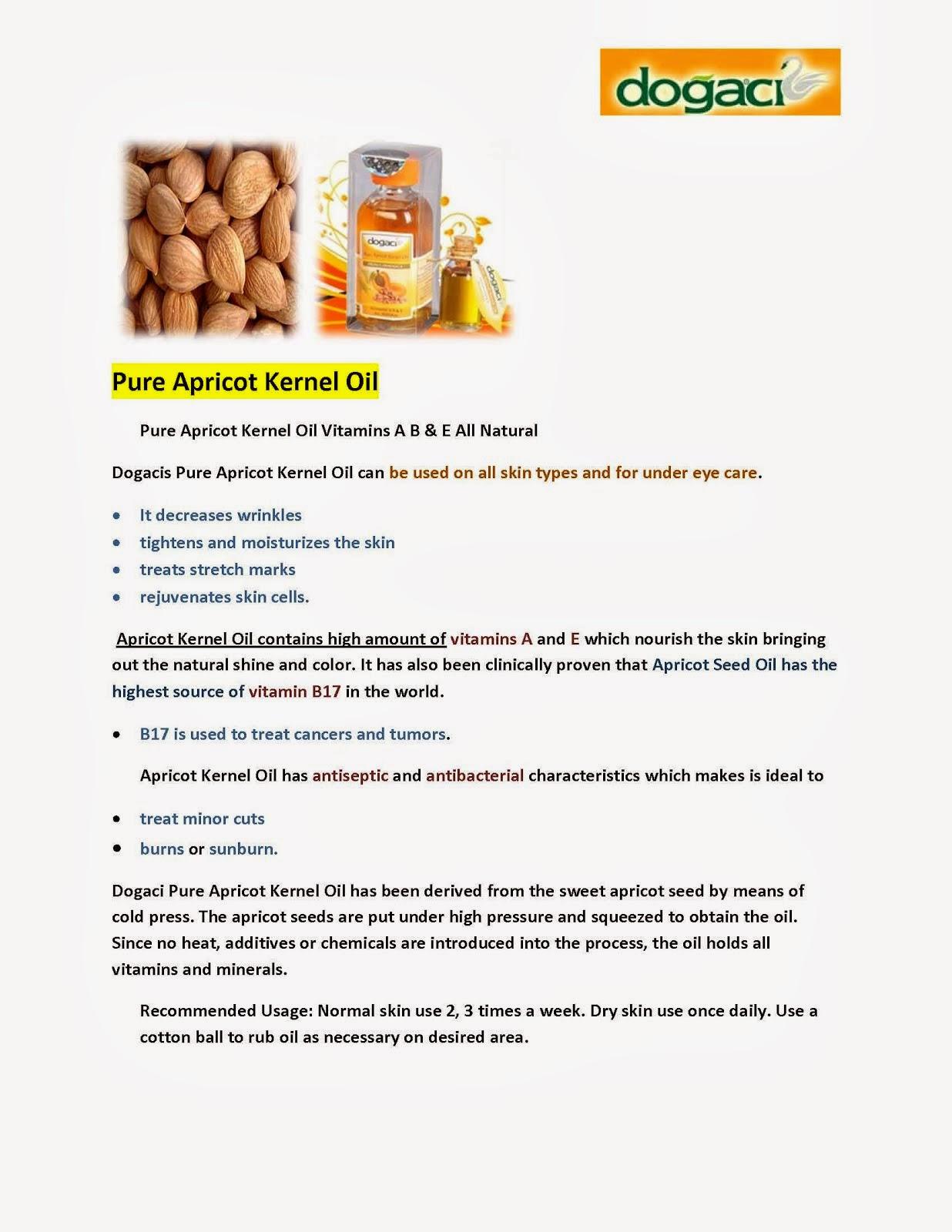 Dogaci Pure Apricot Kernel Oil