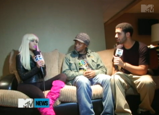 did nicki minaj and drake kiss. Nicki Minaj and Drake in a