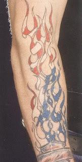 Tatuagens chamas motivo americano