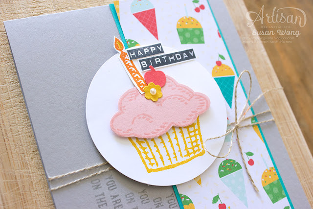 Sprinkles of Life + Cherry on Top Bday Card (detail) ~ Susan Wong