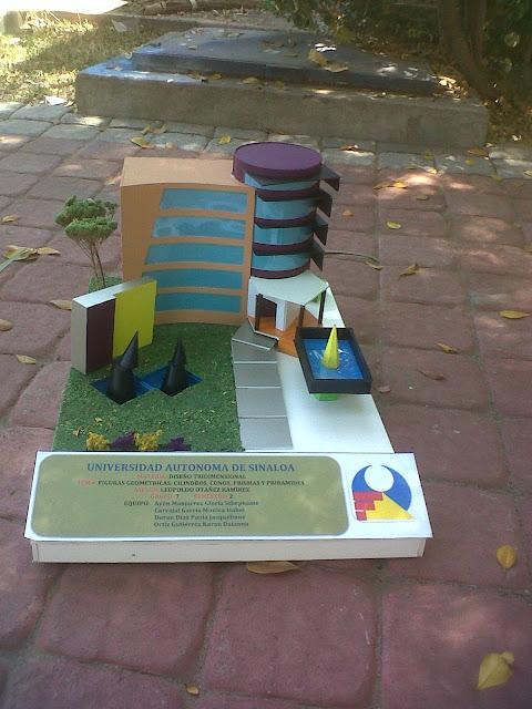 Dise o3d fauas maqueta figuras geometricas for Maquetas de jardines