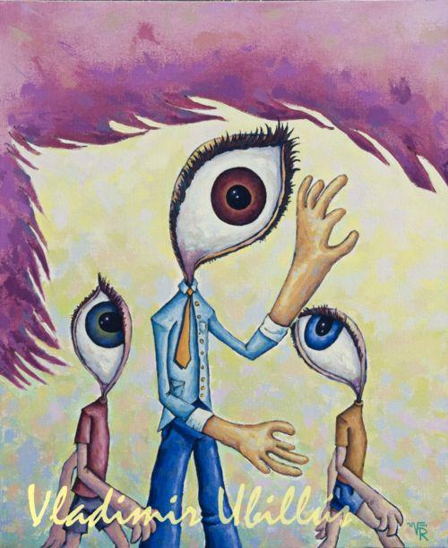 Sus Ojos, (Óleo sobre lienzo). / Seine Augen, (Öl auf Leinwand).
