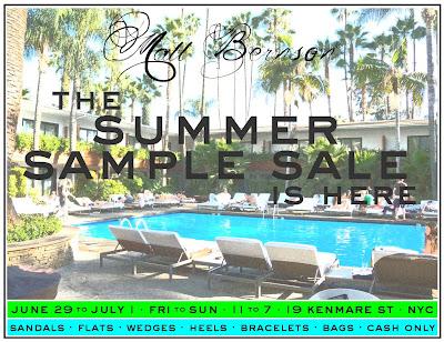 Matt Bernson Summer Sample Sale in NYC 6/29-7/1! featured on shopalicious.com