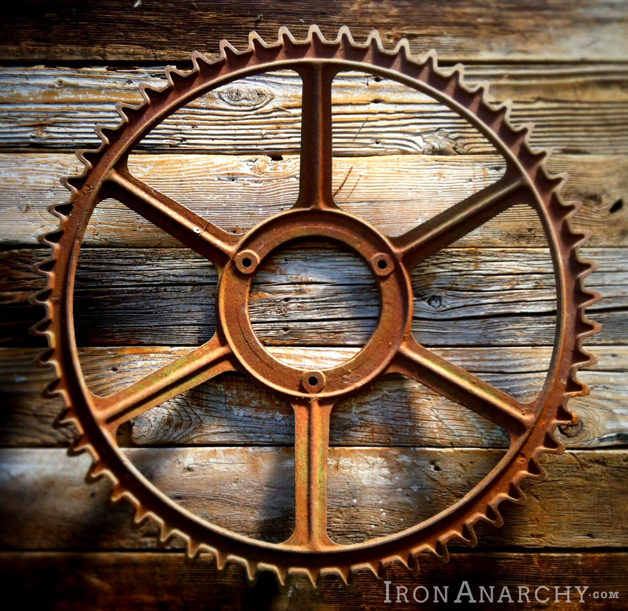 Antique Wheels And Gears : Vintage industrial table base gears