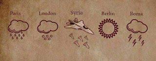 kondisi cuaca di 5 kota besar, suriah dihujani bom dan peluru