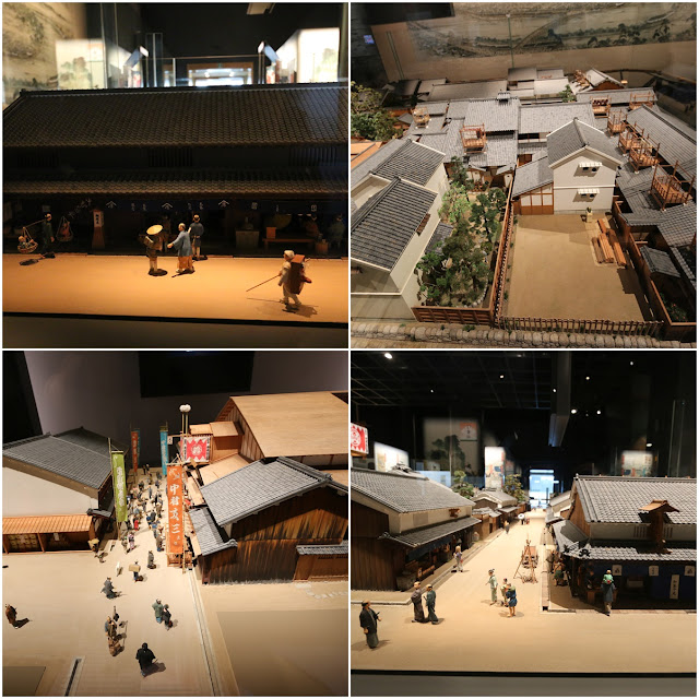 Japanese town and business in the early days at Museum of History in Osaka, Japan