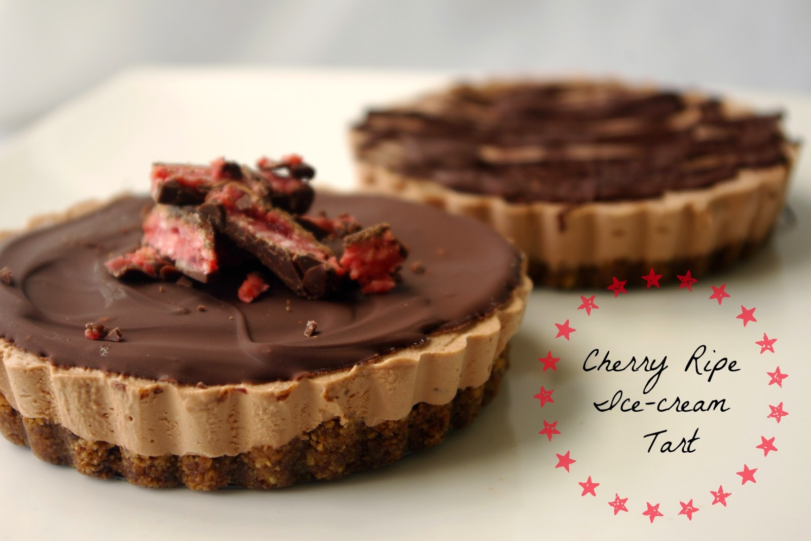 Cherry-ripe-icecream-tart-using-two-ingredient-no-churn-icecream