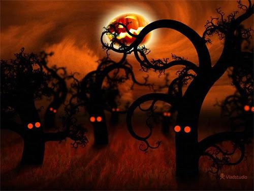 Midnight Forest, Halloween Desktop Wallpapers