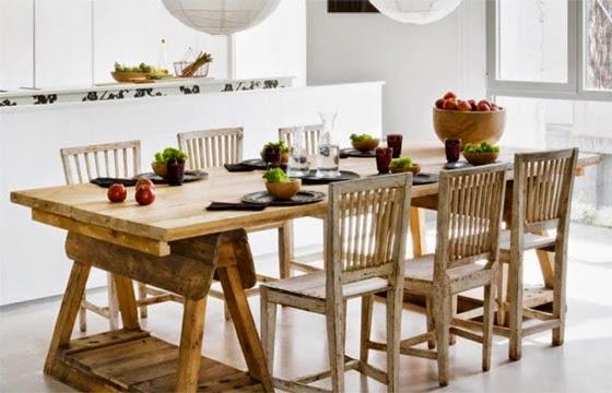 Simple y chic nos sentamos - Mesas cocina vintage ...