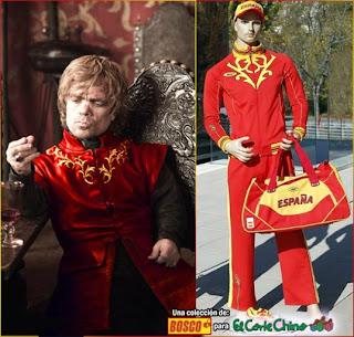 Equipación Lannister en juegos olimpicos de poniente