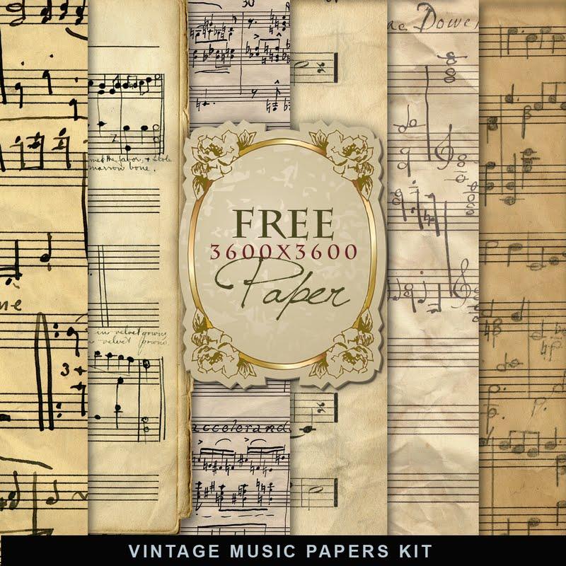 freebies vintage music papers far far hill