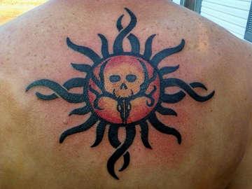 tattoos men bone collector