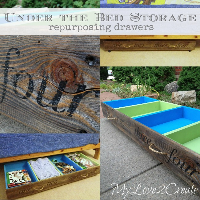 MyLove2Create under the bed storage repurposing drawers