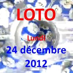 boules du LOTO - tirage du lundi 24 décembre 2012