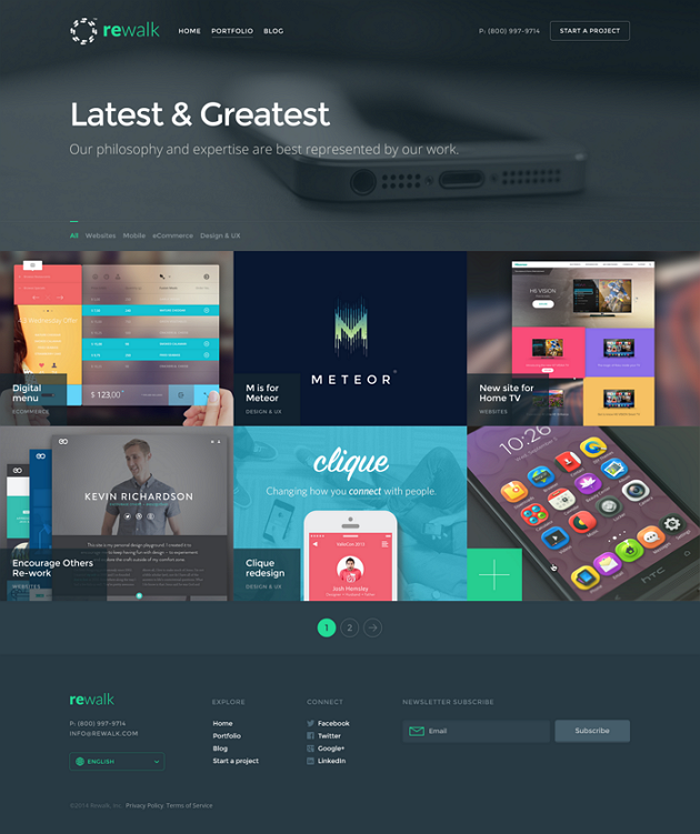 ReWalk Business Adobe Muse Template