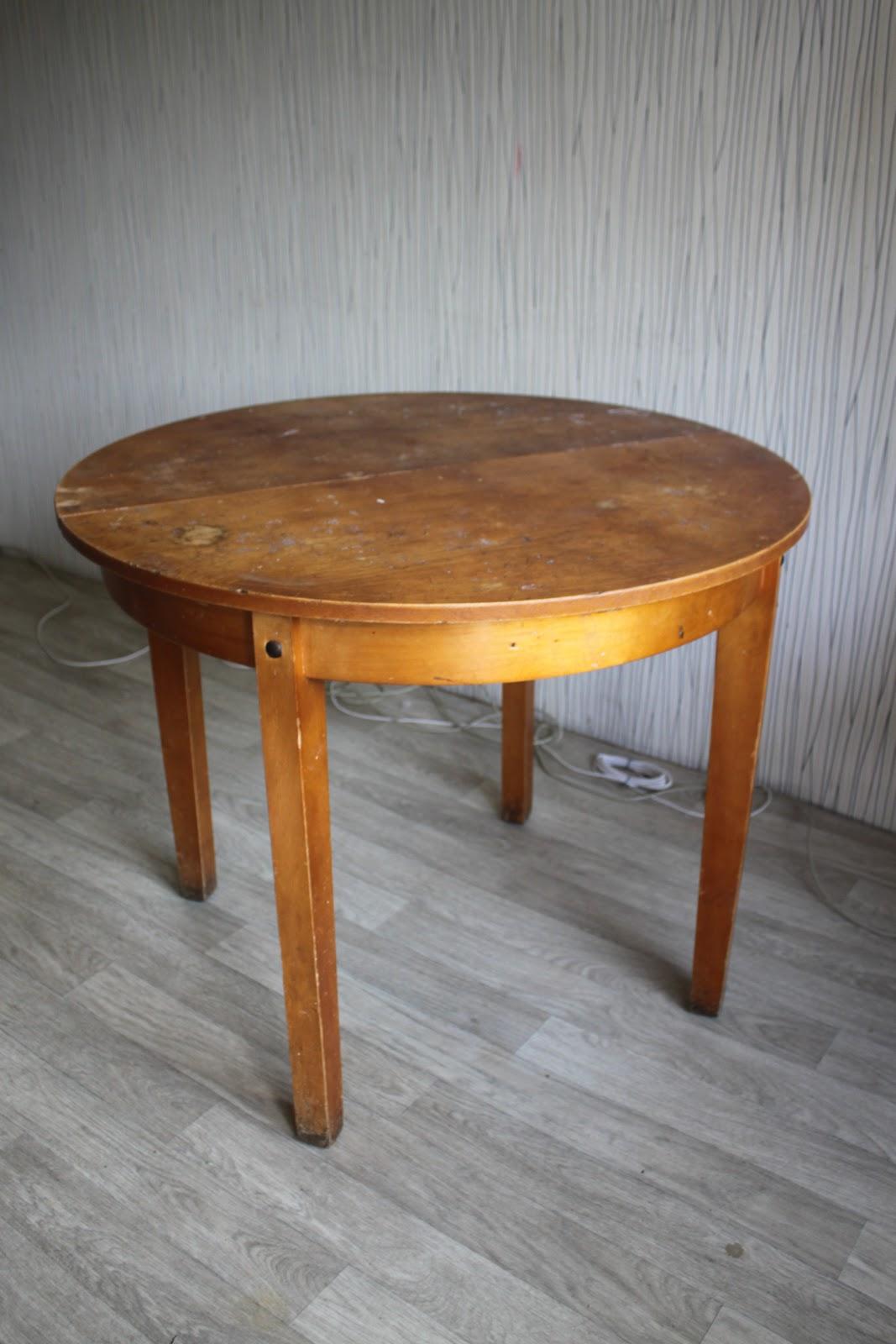 Реставрация круглого стола своими руками мастер класс