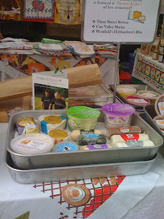Picture of Cheeses at a farrmer's market