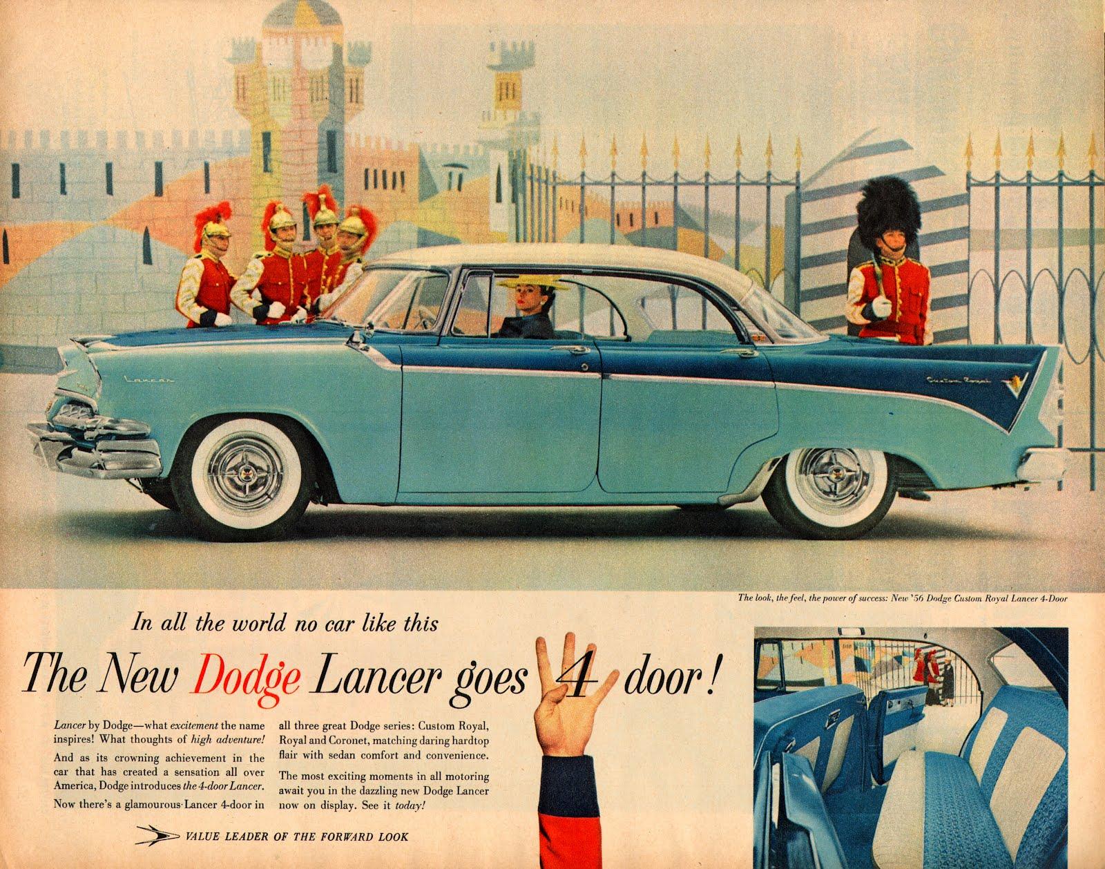 Vintage Car Advertising Posters in US from 1957-1960 ~ vintage everyday