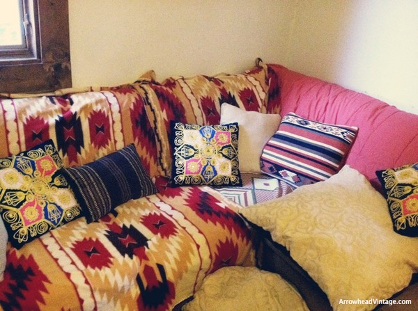 suzani native american inspired ethnic prints pillow den bohemian sofa lounge livingroom home decor
