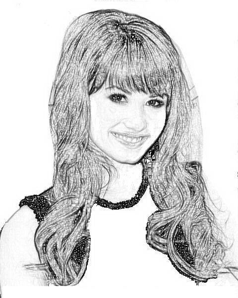 Demi Lovato para colorear y pintar - Dibujo Views
