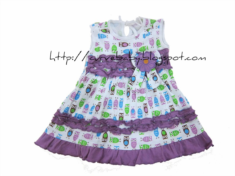 Curve Baby Baby Girl Owl Dress With Pant Set