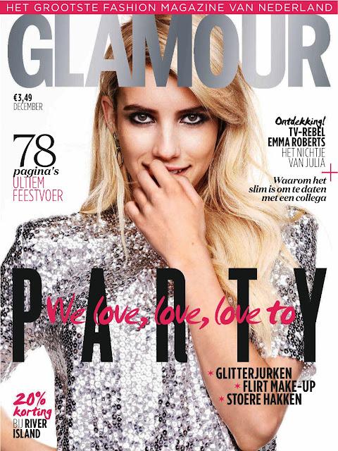 Actress, Singer @ Emma Roberts - Glamour Netherlands, December 2015
