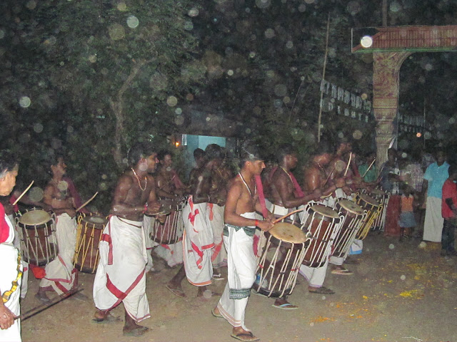 Playing drums in festival - kerala backwater tourism