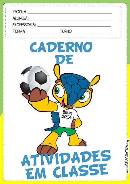 Capas de Caderno de Atividades Copa do Mundo Fuleco