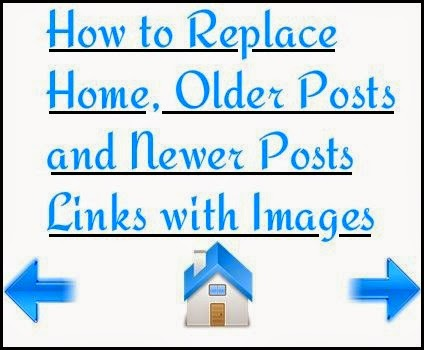 Replace Home, Older Posts and Newer Posts Links