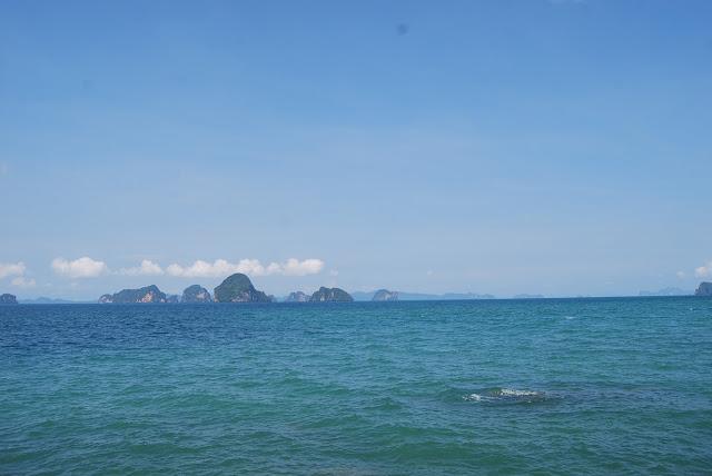 Вид с пляжа Туп каек, sea view from Tup Kaek beach