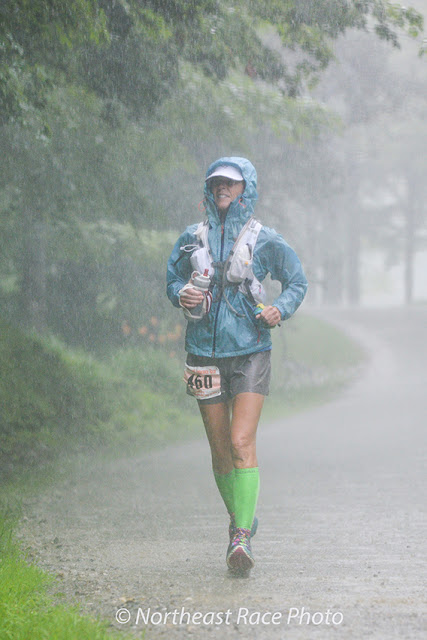 rain shower during the 2015 Vermont 100K