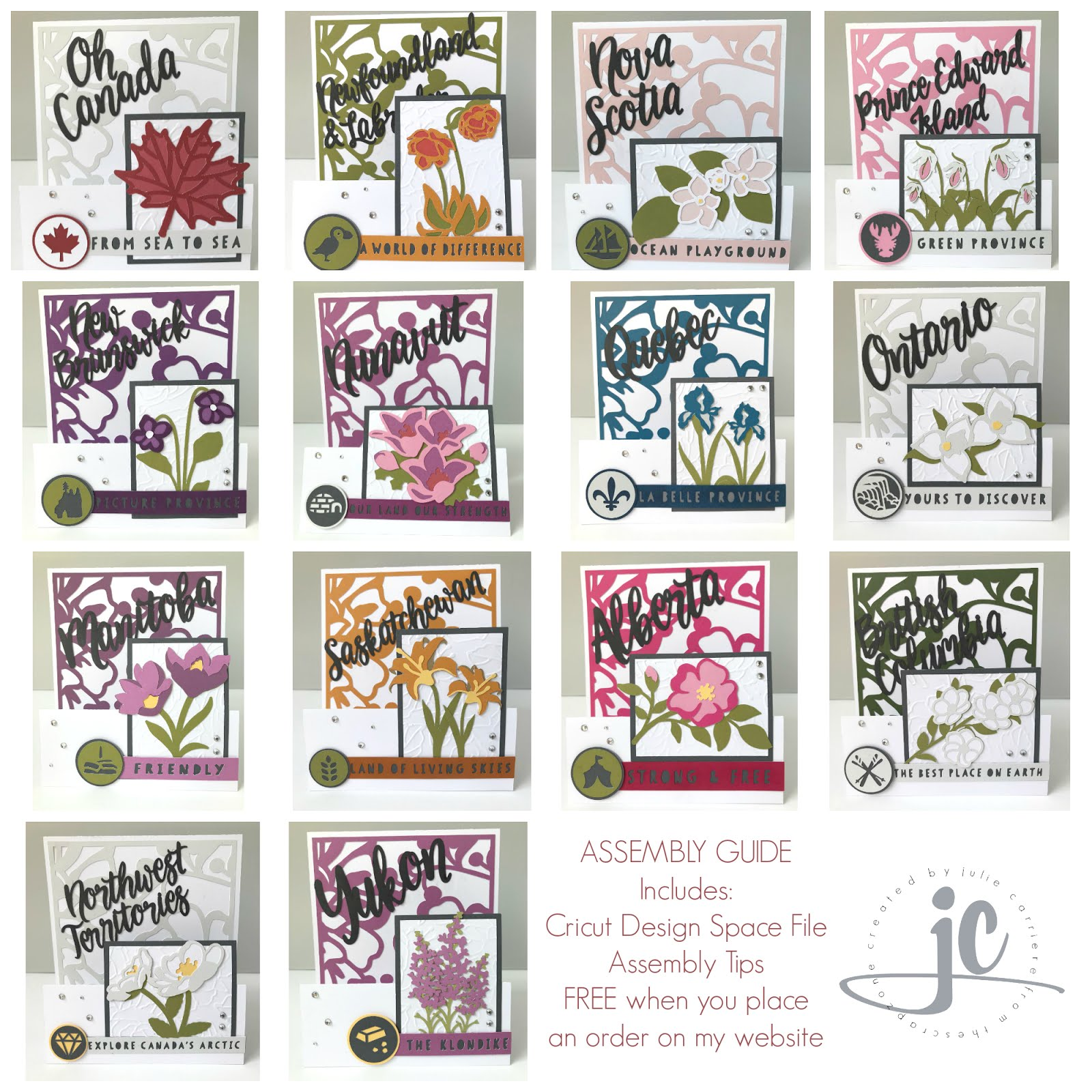 Hello Canada Cardmaking Assembly Guide Easel Cards