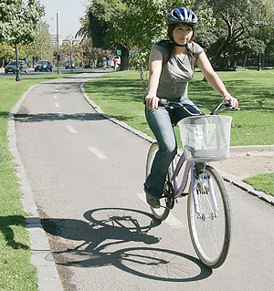 Cuídate si andas en Bicicleta