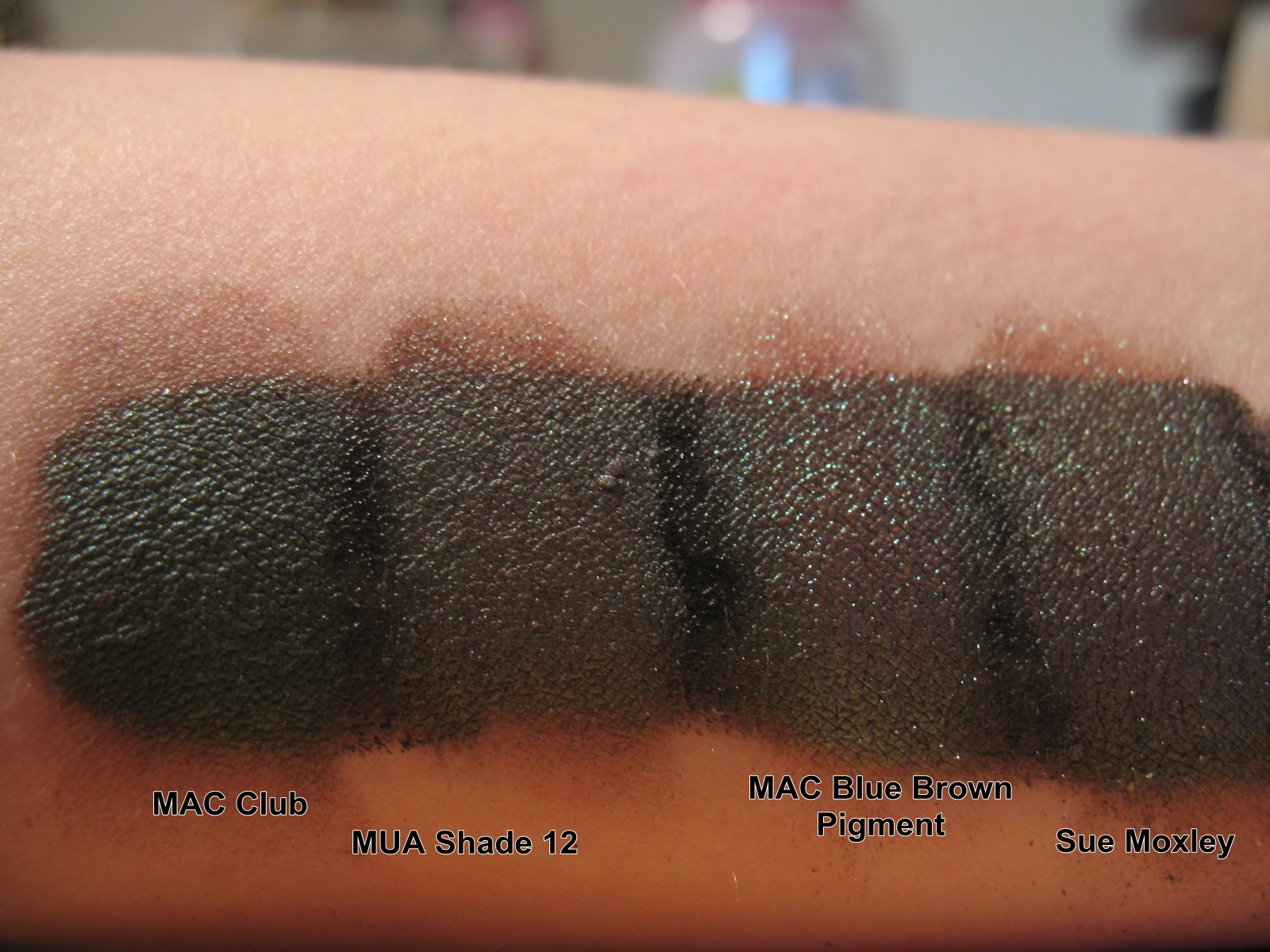 here ive swatched over a black base nyx jumbo eye pencil